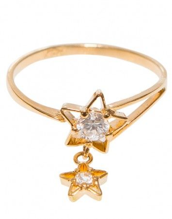 Popetto Fine Twin Stars ring