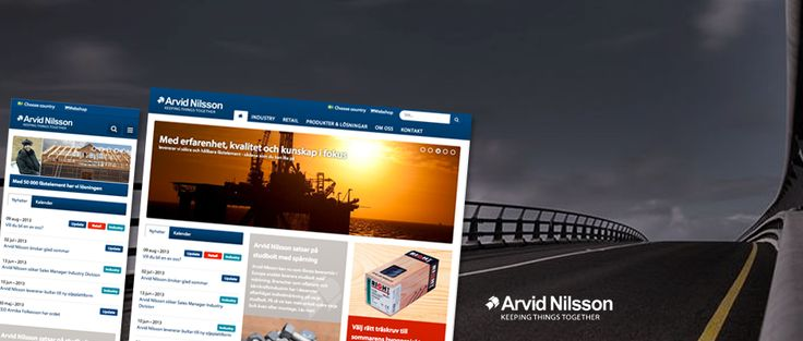 Arvid Nilssons webbplats baseras på senaste EPiServer CMS 7.