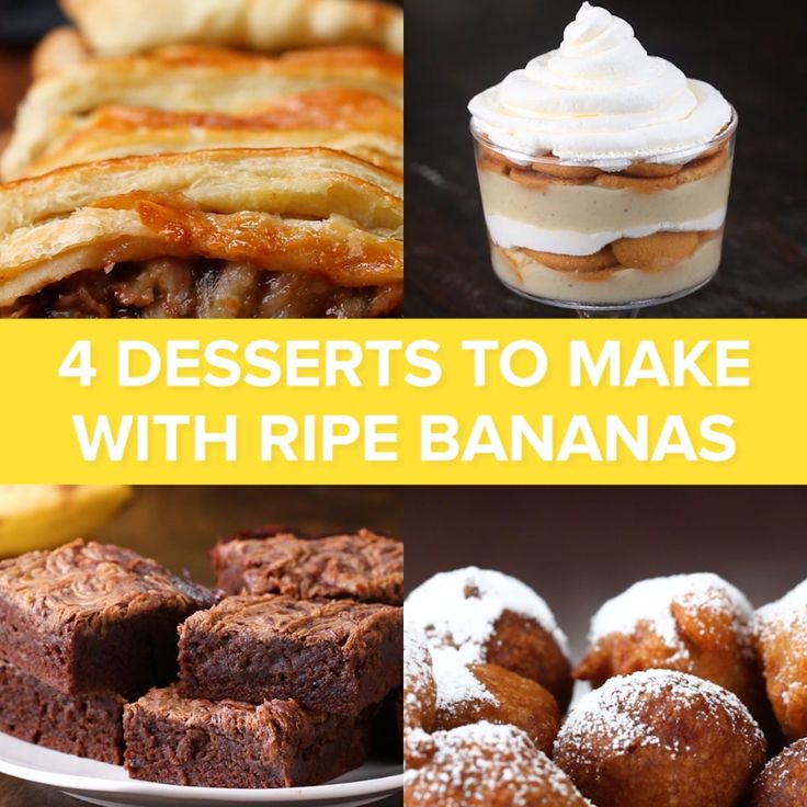 4 Desserts to Make with Ripe Bananas