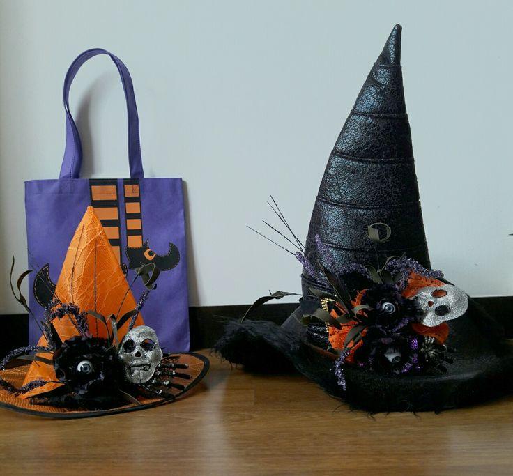 Sombreros de bruja mamá e hija