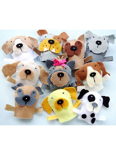 What's New - Sewing - Dog Finger Puppets