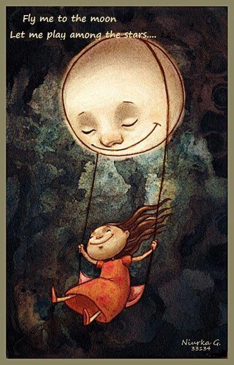 Fly me to the moon via @Brigitte Klawonn