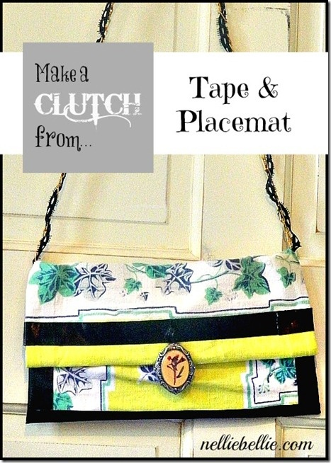 perfect for girls' craft night ... DIY clutch with a placemat & duck tape ... from Nellie Bellie