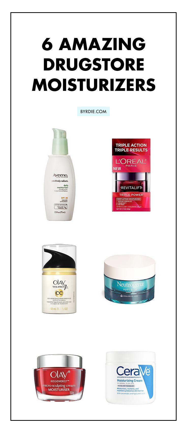 6 popular drugstore moisturizers