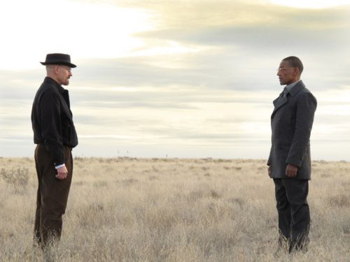 Breaking Bad .. Walter White vs. Gustavo Fring (the photography/cinematography in this series is fantastic).