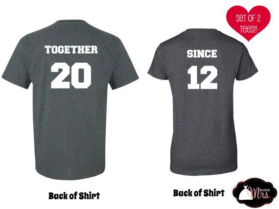 ANNIVERSARY SHIRTS, Anniversary gift, Husband Wife Tees, Boyfriend Girlfriend shirts, Grandparents Shirts on Etsy, $25.99