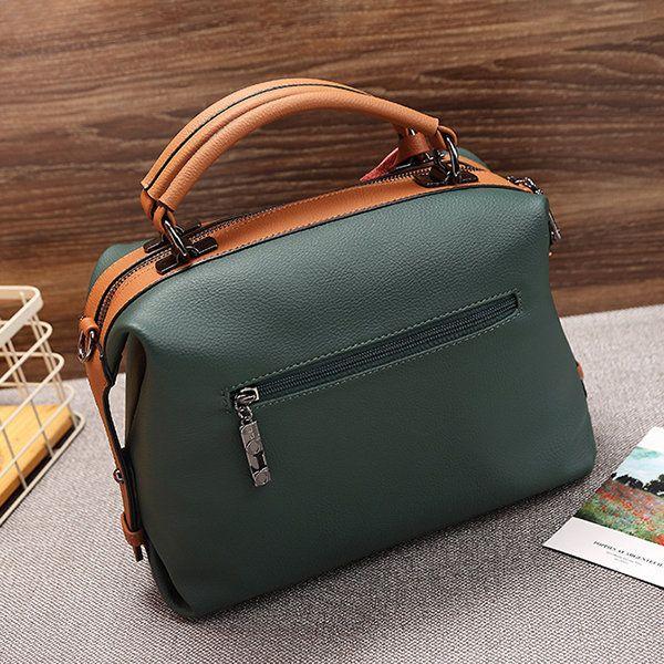 2c564e2d0039 Women Soft Casual Crossbody Bag Large Capacity Boston Handbag ...