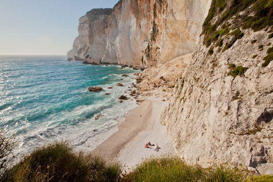 Erimitis beach in Paxoi island, Ionian sea, Greece. Photo by Andreas Douvitsas