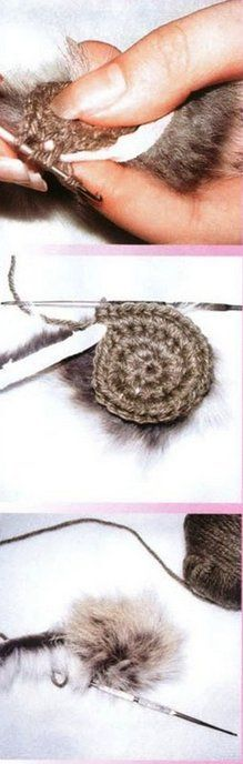 Мех в вязании - Вяжем вещи разные – для себя и дома, для близких людей, а также…