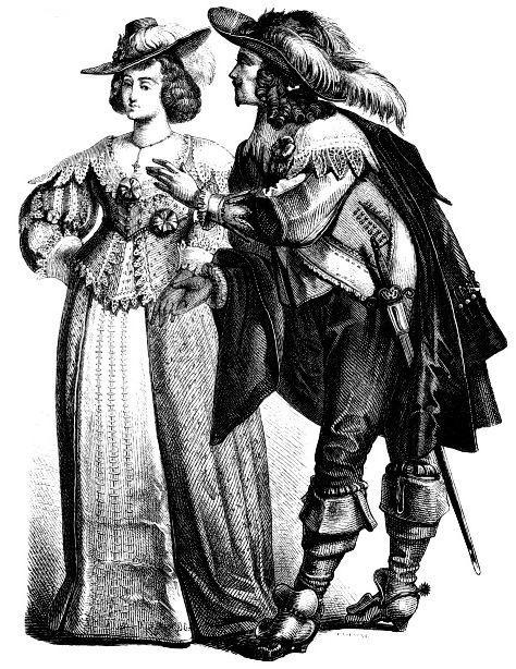 Костюмы немецкой знати, вторая четверть 17 века