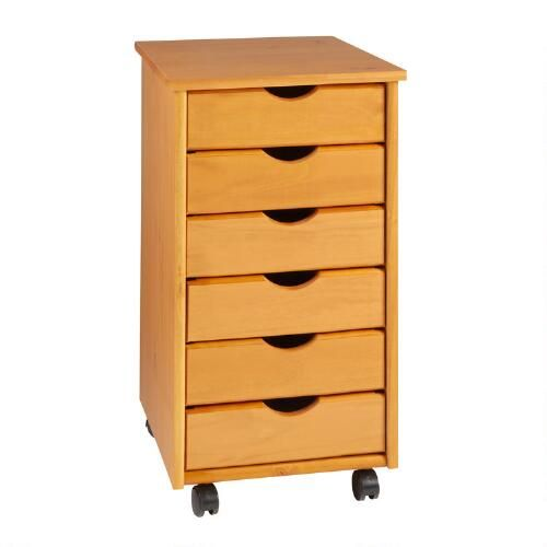 one of my favorite discoveries at narrow pinewood 6 drawer rolling cart. Black Bedroom Furniture Sets. Home Design Ideas