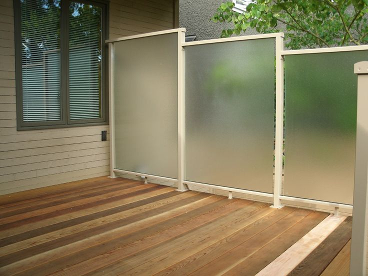 Outdoor Privacy Wall On Cedar Deck Frosted Privacy Screen