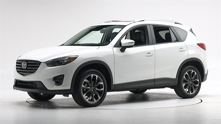 2016 Mazda CX-5. IIHS safety ratings are excellent. However, structure and safety caging are only acceptable.