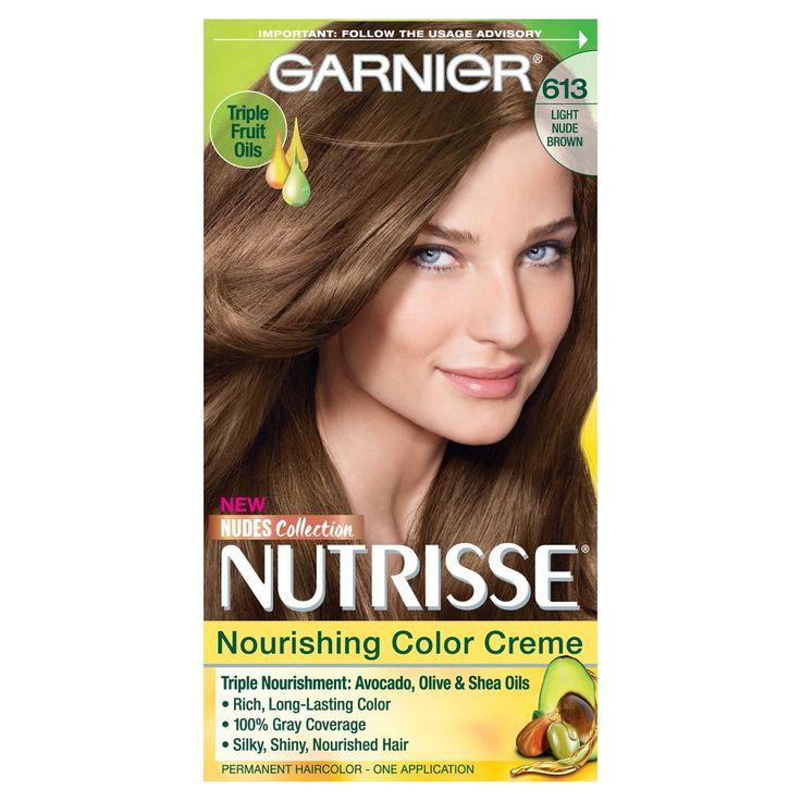 Garnier Nutrisse Nourishing Color Creme Light Nude Brown 613, 613 Light Nude Brown