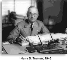 Harry S Truman (May 8, 1884 – December 26, 1972) an American politician who served as the 33rd US President (1945–53), assuming the office upon the death of Franklin D Roosevelt during the waning months of World War II.