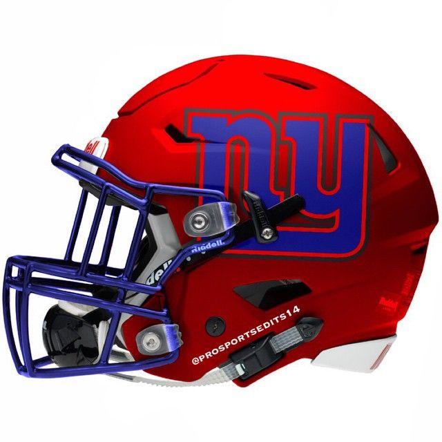 G-Men New York Giants Red Concept Design Football Helmet