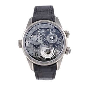 LOT:34 | BREVA - a limited edition gentleman's 18ct white gold Genie 01 wrist watch.