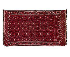 Tappeto in lana e cotone Vintage jajim fars - 220x118 cm