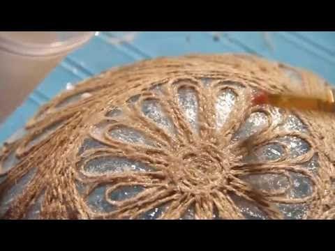 «Ручная работа». Блюдо в технике джутовая филигрань (22.06.2016) - YouTube