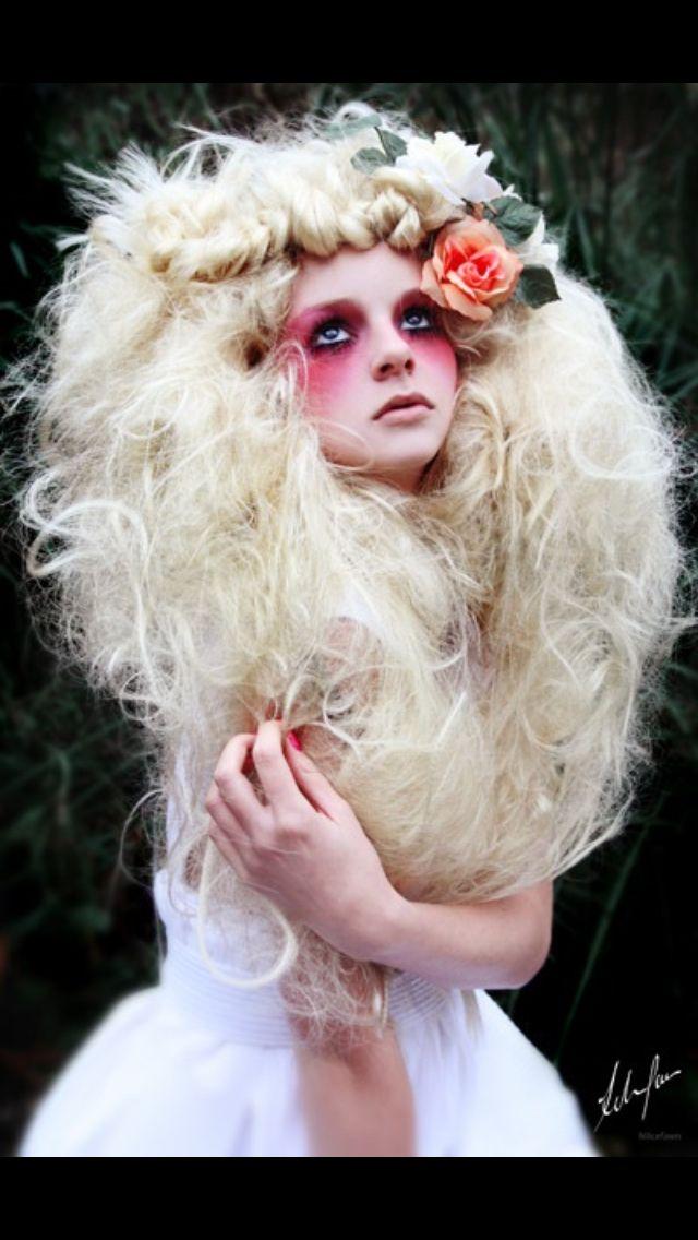 Goth. Fantasy hair!