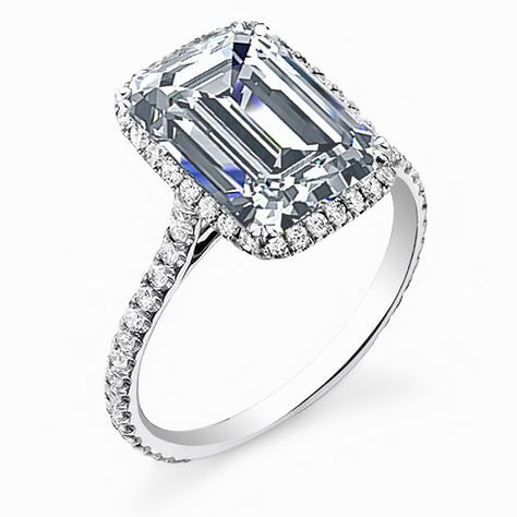 Astounding Emerald Cut Halo Engagement Rings Uk To