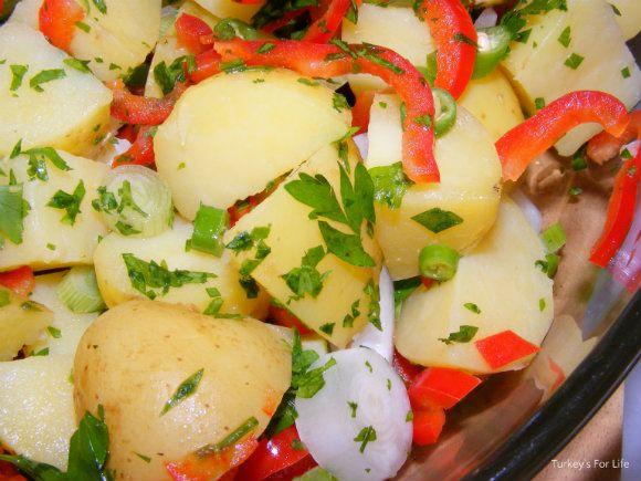 1071 best favourite turkish food recipes images on pinterest colourful turkish potato salad forumfinder Gallery