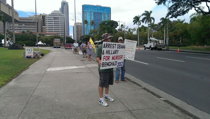 Overpasses for Obama's Impeachment --  Patriots standing up in Hawaii.