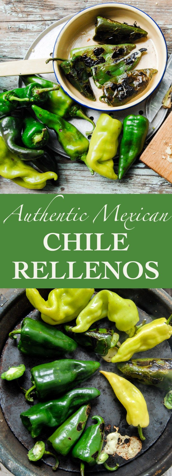 Authentic Mexican Chile Relleno recipe. Fast, easy and only two ingredients!