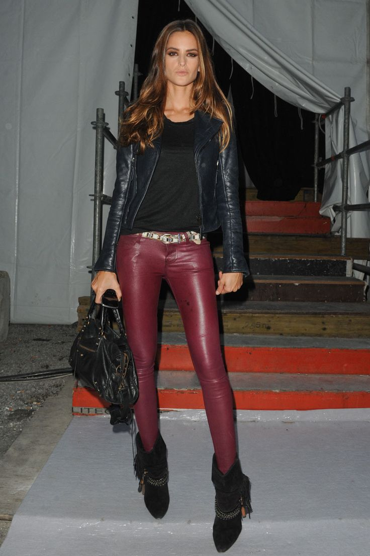 izabel goulart style boho chic womenswear red leather pants boots fall winter. Black Bedroom Furniture Sets. Home Design Ideas