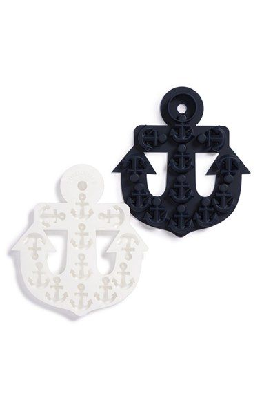 Sunnylife Anchor Ice Cube Tray, set of 2, white & navy, $21.00 at Nordstrom - perfect for summer drinks.