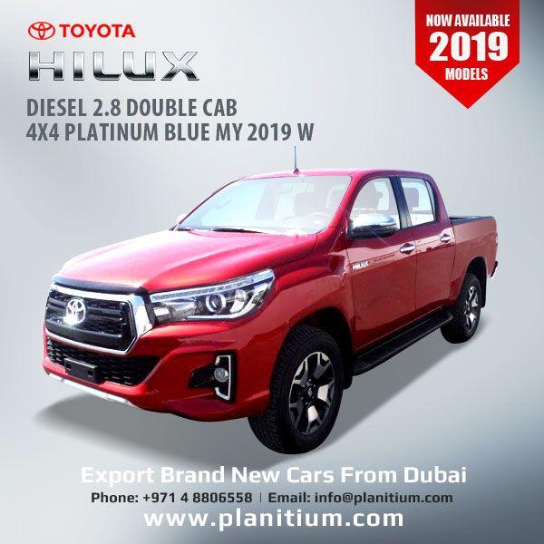 Export 2019 Hilux 2 8 Diesel Double Cab 4x4 Platinum Dubai Toyota Hilux Toyota Diesel