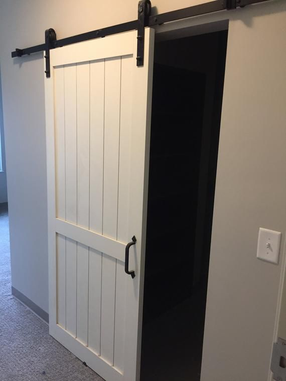 Barn Door Hardware Custom Built Barn Door With Door Hardware For Door Sizes From 28 Inch 44 Inch Wide Open Barn Door Barn Doors Sliding Custom Barn Doors