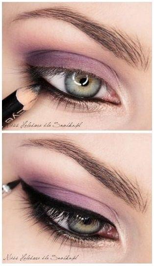 maquillaje ojos verdes en morado - Buscar con Google