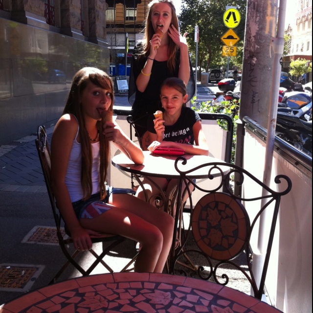 Nice sunny spot out the front of the shop to enjoy your gelato :)