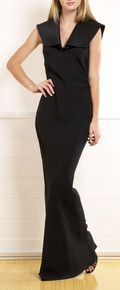 Gorg long black dress!