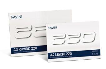 Disegno A4-A3  Serie di blocchi in cartoncino bianchissimo di alta qualità disponibile nelle due versioni liscio e ruvido e nei due formati universali A4 (29.7x21 cm) ed A3 (42x29.7 cm).  A4  21x29,7 cm A3  29,7x42 cm  20 fogli - 220 g/m2