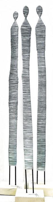 moines - wire art - sculpture -
