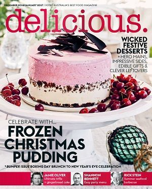 @deliciousAUS #magazines #covers #december #2016 #food #recipes #desserts #festive #pudding #celebrations #leftovers