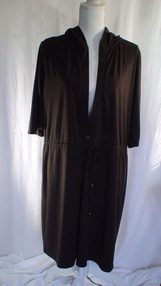 Merona Hooded Brown Beach Dress Women's Size 16W/18W #Merona #BeachDress