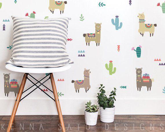 Alpaca Wall Decals Llama Decals Alpacas Reusable Wall Decals