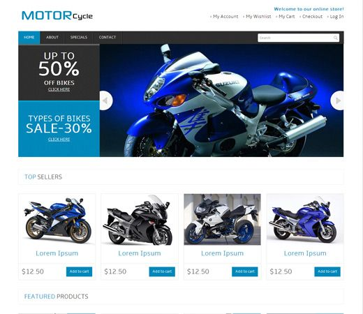 Motor Cycle automobile Mobile Website Template. http://w3layouts.com/preview/?l=/motor-cycle-automobile-mobile-website-template/