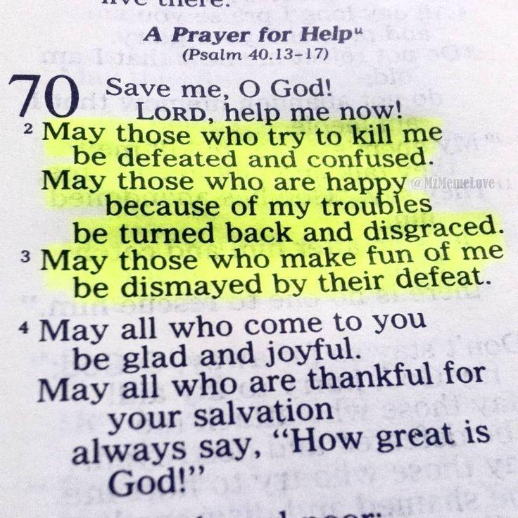 Psalm 70:2-3 (1-4 needs v 5)