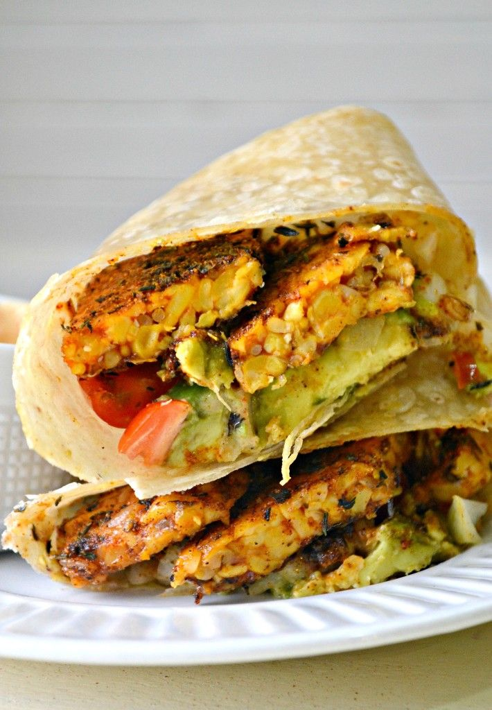 Add a little spice to your night! Try these spicy chipotle blacked tempeh wraps & see if they heat things up! #itssoygood