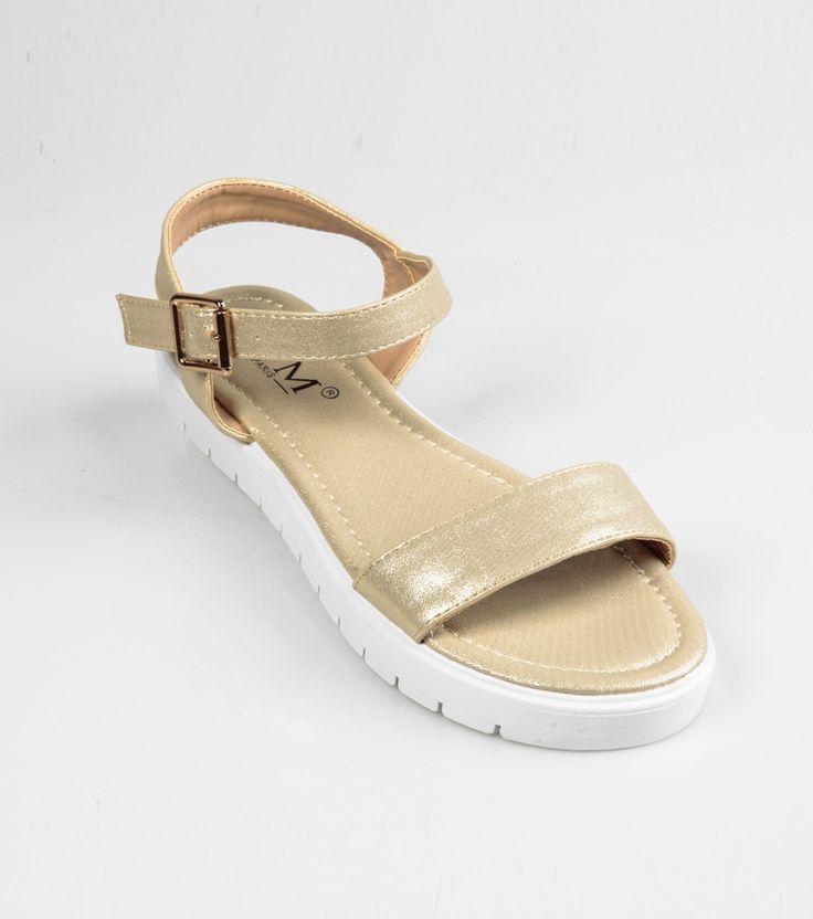 Sandalias planas mujer doradas Mujer Z7 Venca