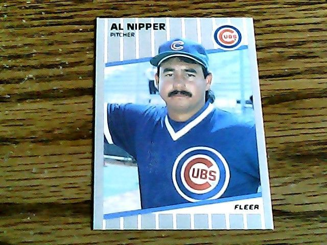 Fleer 1989 al nipper cubs card 433