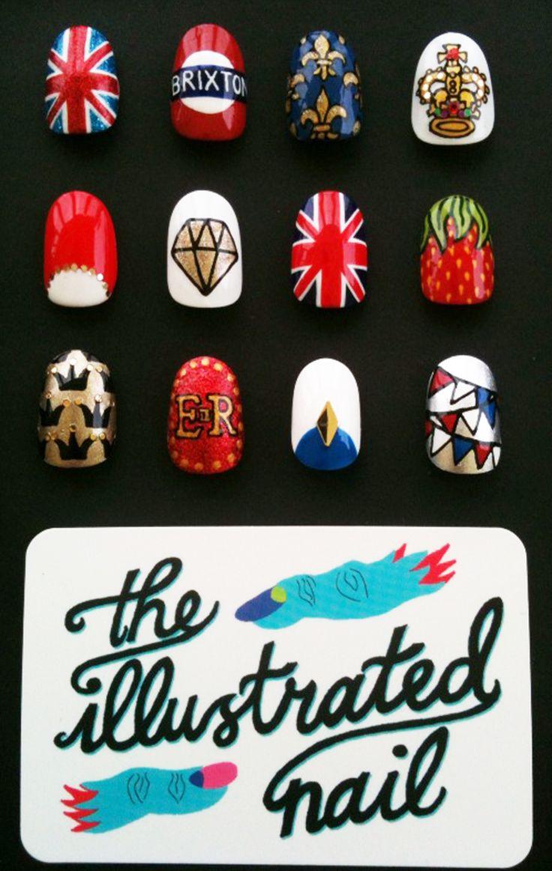 The regal Jubilee nail art menu for The Royal Nail Salon…