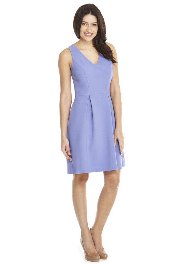 F&F V-Neck Sleeveless Pleated Shift Dress