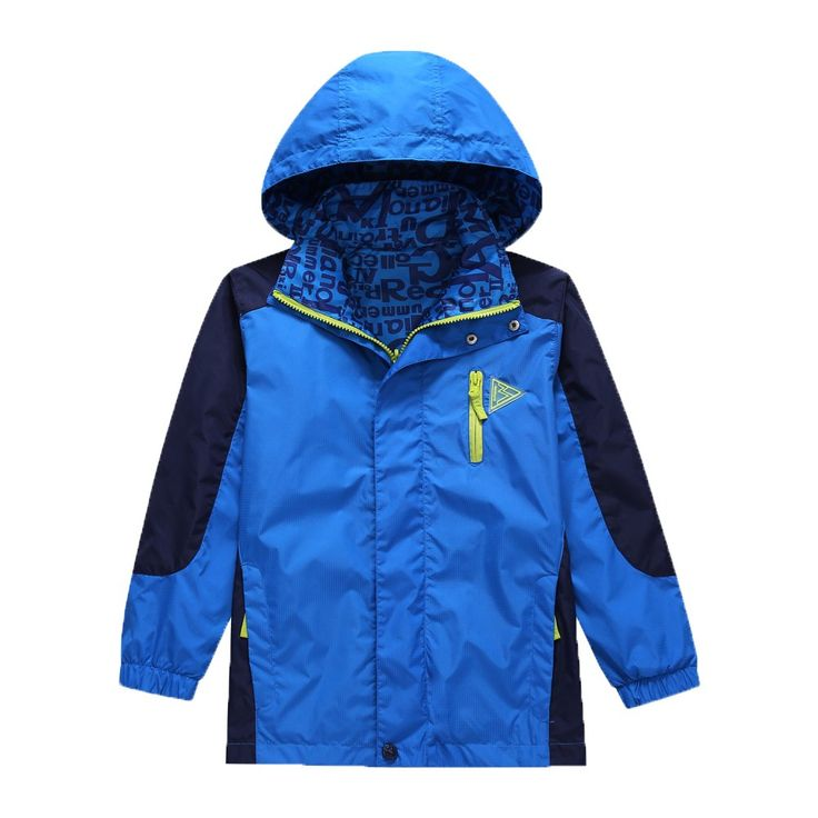 KID1234 Boys' Lightweight Rain Jacket Quick Dry Waterproof Hooded Coat (10, Blue). - The jacket can be worn on both sides. - Elastic cuffs, Waterproof breathable overlay,the hat is removable. - Hidden front zipper, Side-seam pockets with zippers. - The jacket two sides have five pockets with zipper. - The jacket is so lightweight ,and easy to carry.