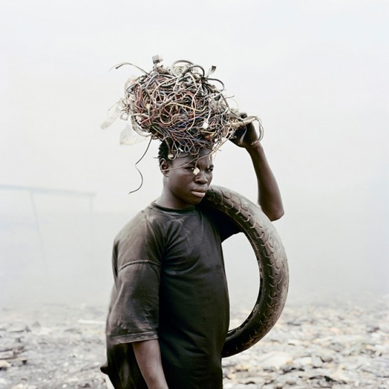Pieter Hugo's new series, Permanent Error, depicts Agbogbloshie, a massive dump site for technological waste on the outskirts of Ghana's capital city, and the locals who burn down the components to extract bits of copper, brass, aluminum and zinc for resale.