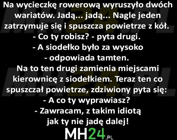Na wycieczkę rowerową wyruszyło dwóch wariatów… – MH24.PL – Demotywatory, Memy, Śmieszne obrazki i teksty, Filmiki, Kawały, Dowcipy, Humor
